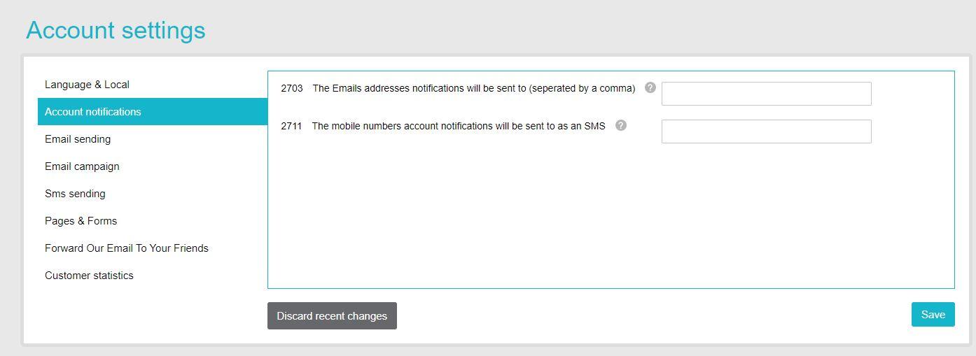 Account notification