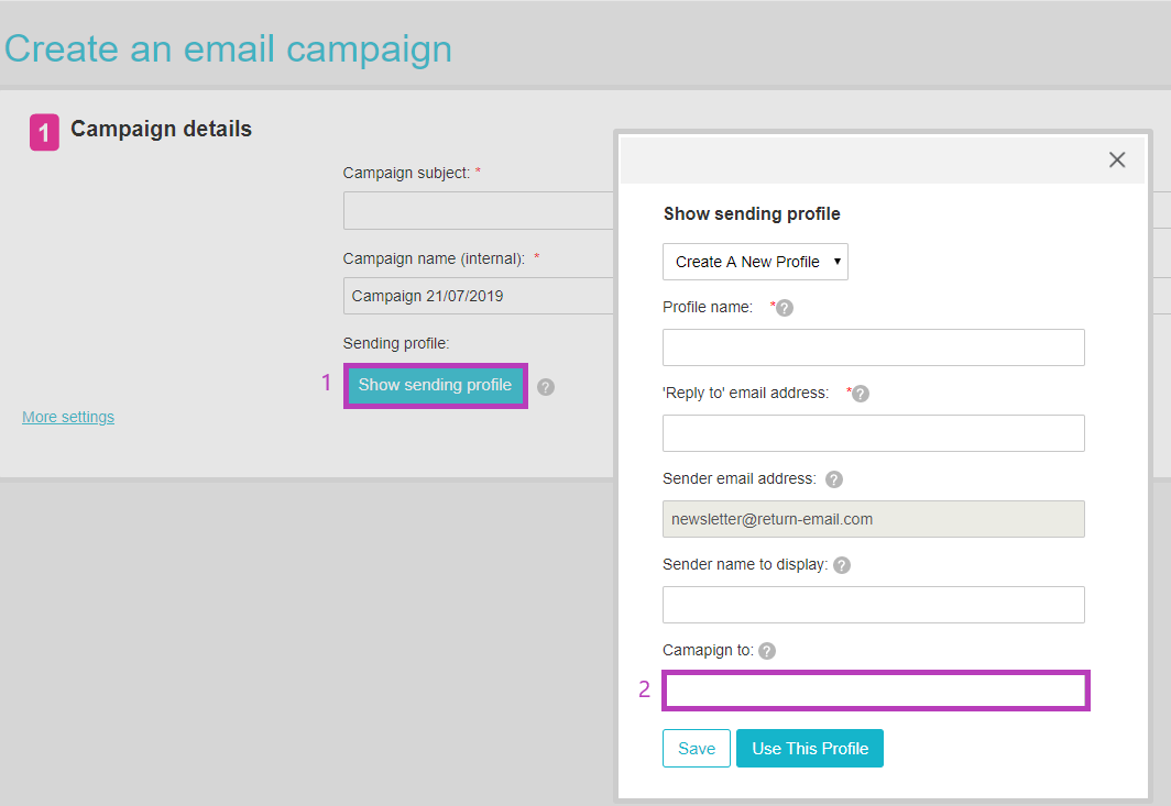 Create email campaign
