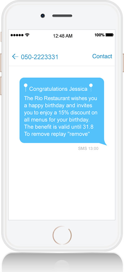 Personal SMS message