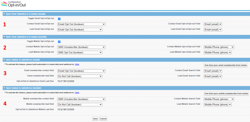 Salesforce - Unsubscribe Settings