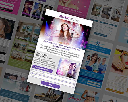Landing page template - music