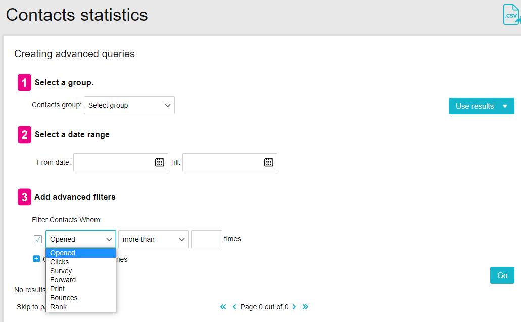 Creating advanced queries